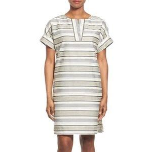 Lafayette 148 Nazeen Stripe Shift Dress Sz S